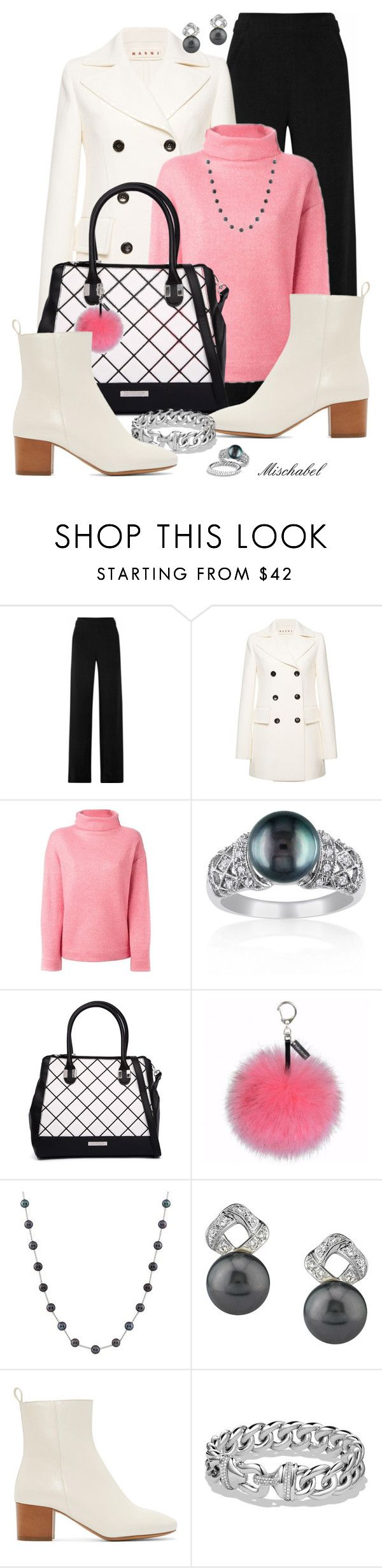 """It Girl - White Boots & Pom Pom Keyring (99)"" by mischabel ❤ liked on Polyvore featuring Proenza Schouler, Marni, Étoile Isabel Marant, Belk & Co., Kardashian Kollection, Helen Moore, Splendid Pearls, Isabel Marant, David Yurman and women's clothing"