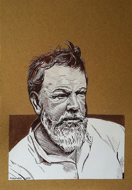 Sorolla. Portrait. 6 - Final. Ink. | Flickr