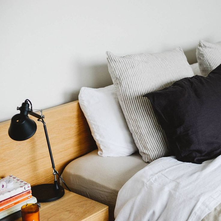 """992 Likes, 4 Comments - IN BED (@inbedstore) on Instagram: """"Our linen in Dove Grey, White, Stripe & Navy looking dreamy at home with @pan_after from our…"""""""