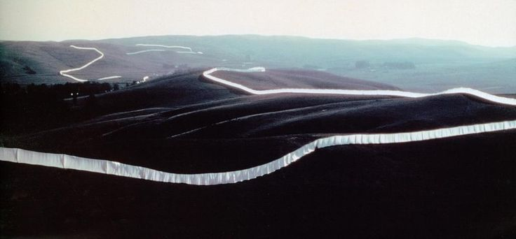 Christo and Jeanne-Claude, Running Fence, Sonoma and Marin Counties, California, 1972 – 1976.