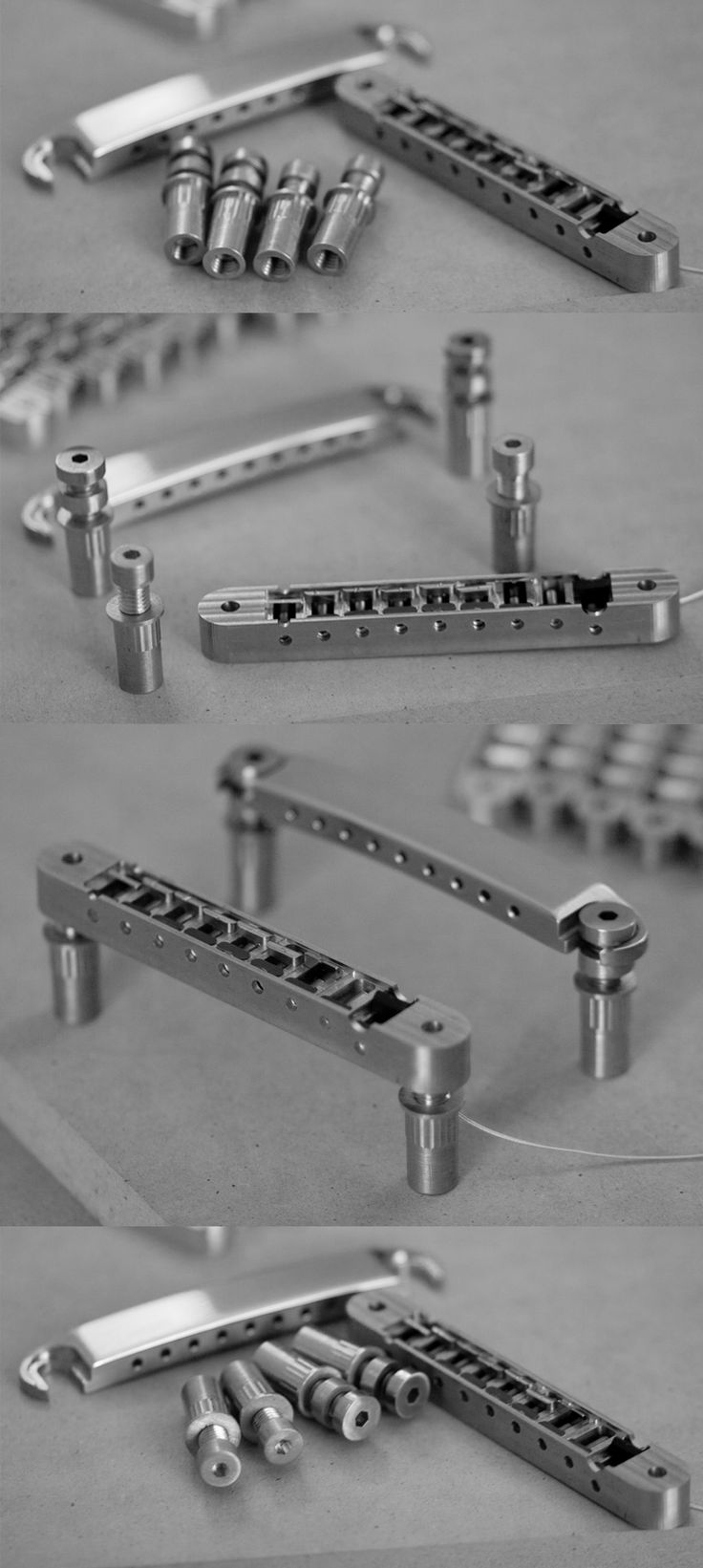 Custom machined guitar bridge! Beautiful.