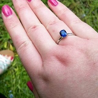 Blue sapphire platinum four claw ring being modelled by our very own Hannah jondibben.co.uk #finejewellery #madeinengland #customjewellery #instajewellery #necklace #ring #engagement #wedding #gemstone #silver #gold #platinum #diamond #jewellery #handmade #fairtrade #jondibben #artisan #bespoke #inspiredbynature #quality #socialresponsibility #nofilter #picoftheday #photooftheday #jewelleryofinstagram #precious #design #designer #sapphire