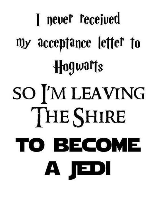From a fan. This harried statement was made out of hobbit, so I think he's out of luke.