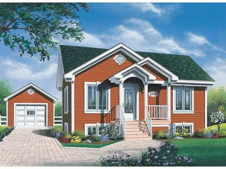 New american house plan with 896 square feet and 2 American dream homes plans