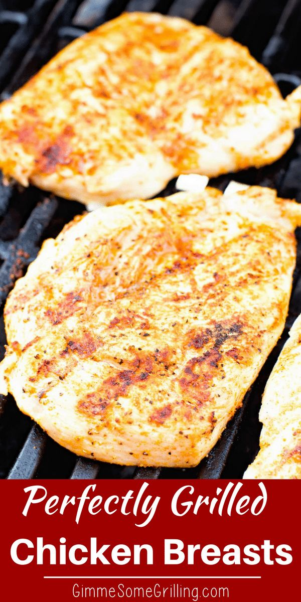 Always wonder how people grill perfectly plump and juicy grilled chicken breast? I'm going to tell you exactly how to grill chicken breast so they are juicy every single time! This will become your favorite grilling recipe because it's so delicious and so easy! #grill #grilled #chicken #grilledchicken #recipeideas via @gimmesomegrilling