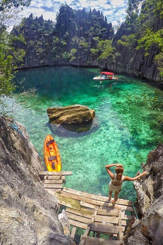 top honeymoon destinations twin lagoon coron islands palawan philippines
