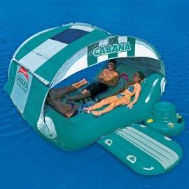 Кабана островов - 6 человек надувной партия остров с огромным навесом и плавающей кулера