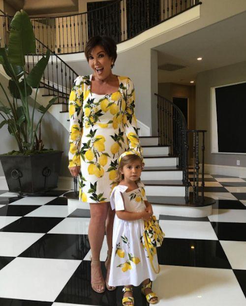Kourtney Kardashian's Mom & Daughter: Matchy Matchy - http://site.celebritybabyscoop.com/cbs/2016/06/09/kourtney-kardashians-daughter #Dresses, #KourtneyKardashian, #KrisJenner, #KUWTK, #Lemon, #LindsayLohan, #London, #Matching, #MatchyMatchy, #PenelopeDisick, #UK