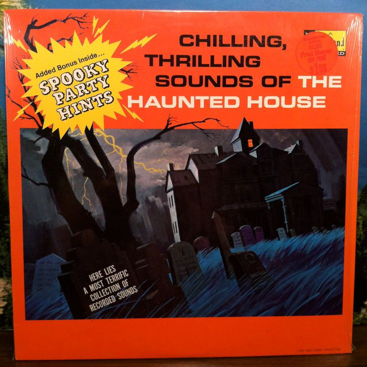 Chilling, Chilling, Thrilling Sounds of The Haunted House Vinyl Record LP Disneyland Scary Halloween Sound Effects by theplunderdome on Etsy