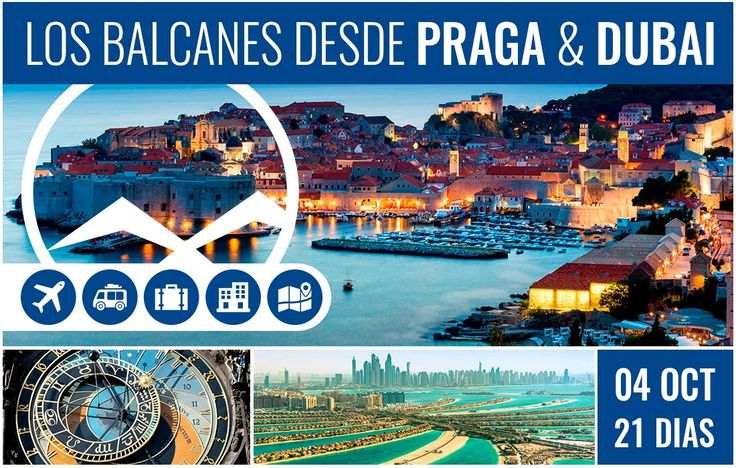 ▶¡Lo mejor de Los Balcanes!◀ Desde Praga a Dubai - Salida: 4 de Octubre - 21 Días  Incluye aereos, alojamiento, excursiones, asistencia ¡¡No te lo podés perder!!   #Delapaztur #Experiencias #Viajes #argentina #dubai #balcanes #praga #hotel #travel #vacaciones