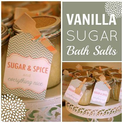 DIY Vanilla Sugar Bath Salts