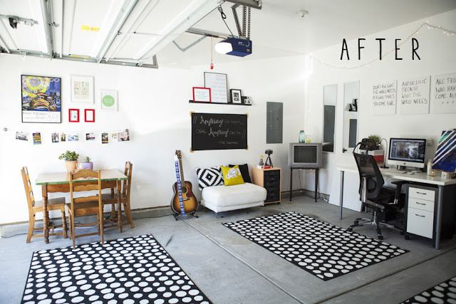 Garage studio makeover