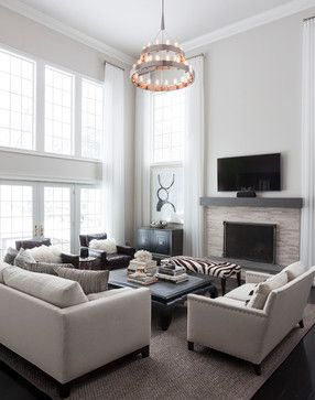 Modern Luxe Great Room By Susan Glick Interiors