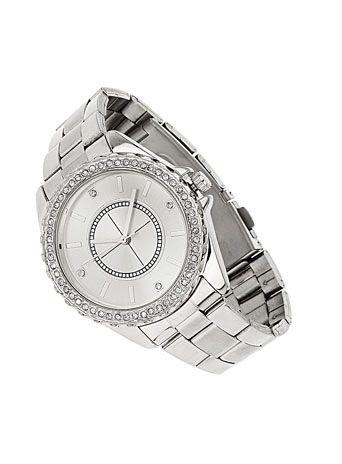 Chunky silver watch