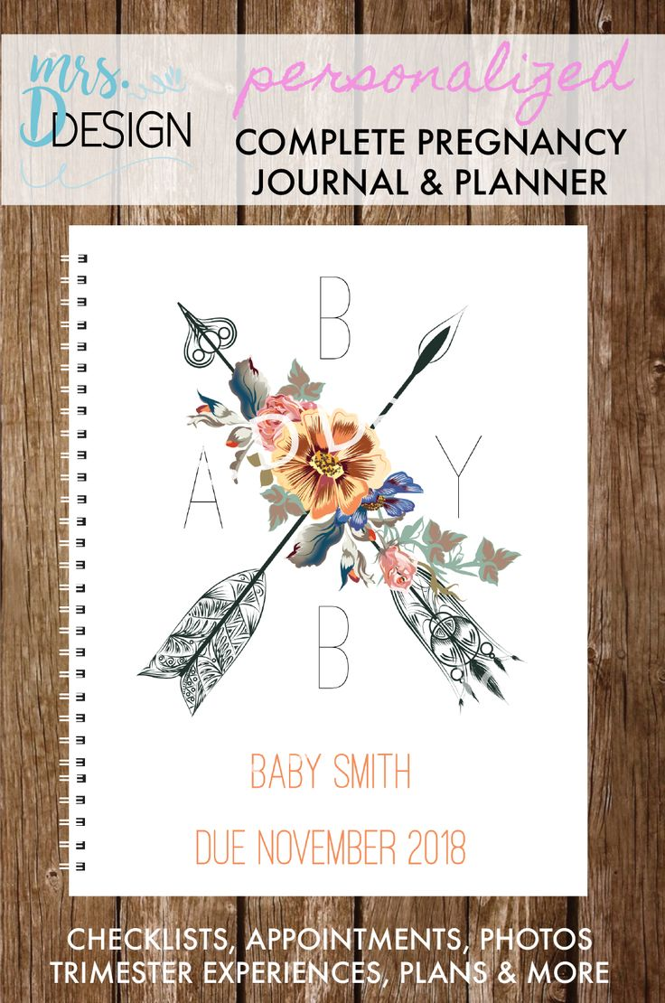 Adorable personalized notebook to guide you and document your pregnancy …   – ideas