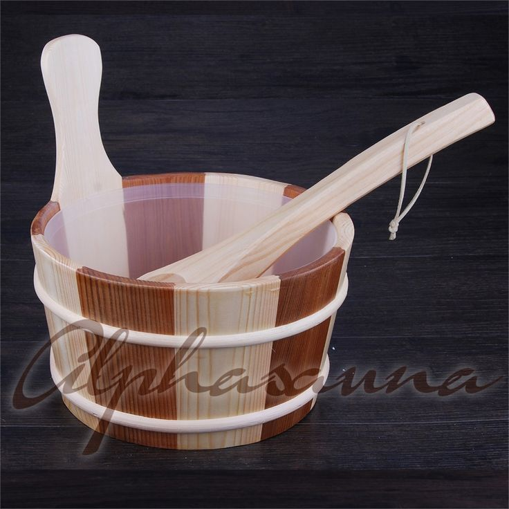 Free shipping 4L Sauna Bucket and ladle Red Cedar& Pine with liner  Factory Sauna accessories, Wholesaler, Sauna Dealer