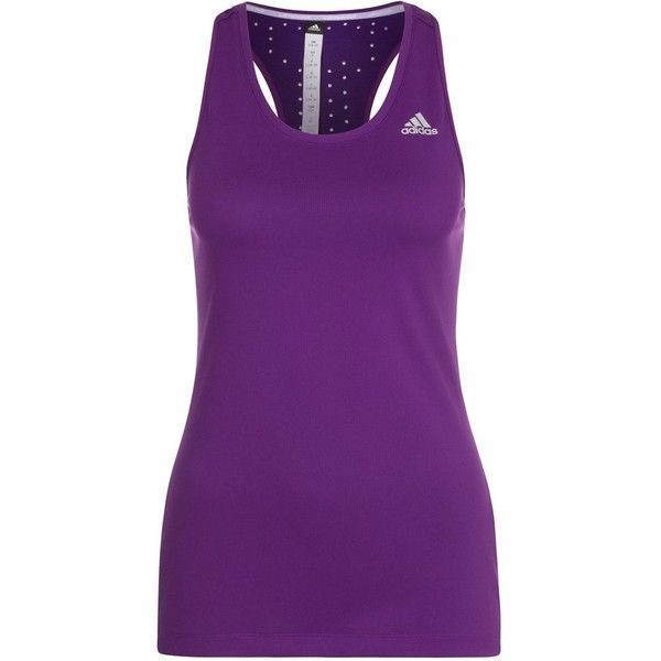 e8f626844cf5d adidas Performance CLIMACHILL Top tripurple (71 BRL) ❤ liked on Polyvore  featuring plus size