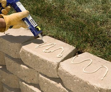 retaining wall ideas | ... Retaining Wall - Building Masonry Walls - Patios, Walkways, Walls