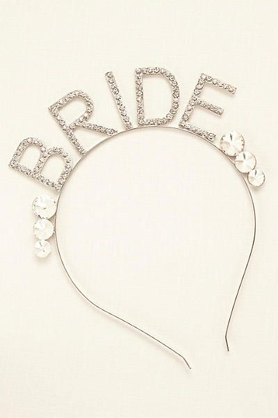 Scripted Bride Headband 384701
