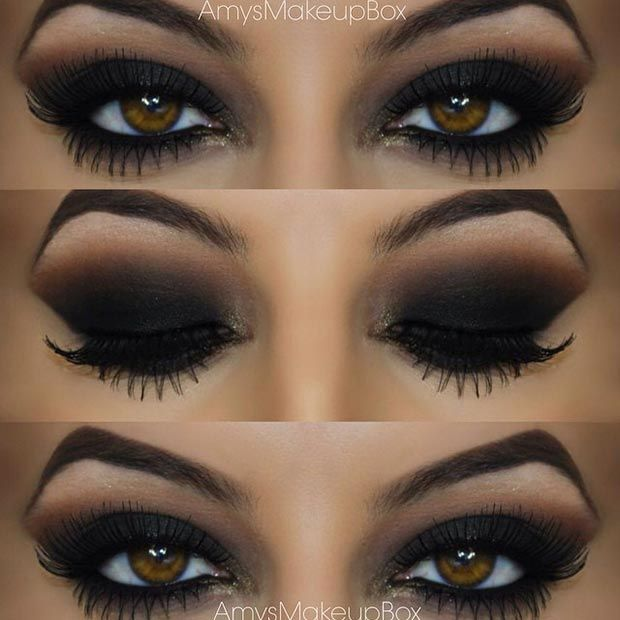 This look is the dark seductive smokey eye, I try these colours for my everyday look. Let me tell you it works! Brings your beautiful eyes to the point that you're satisfied. This is my ideal.: