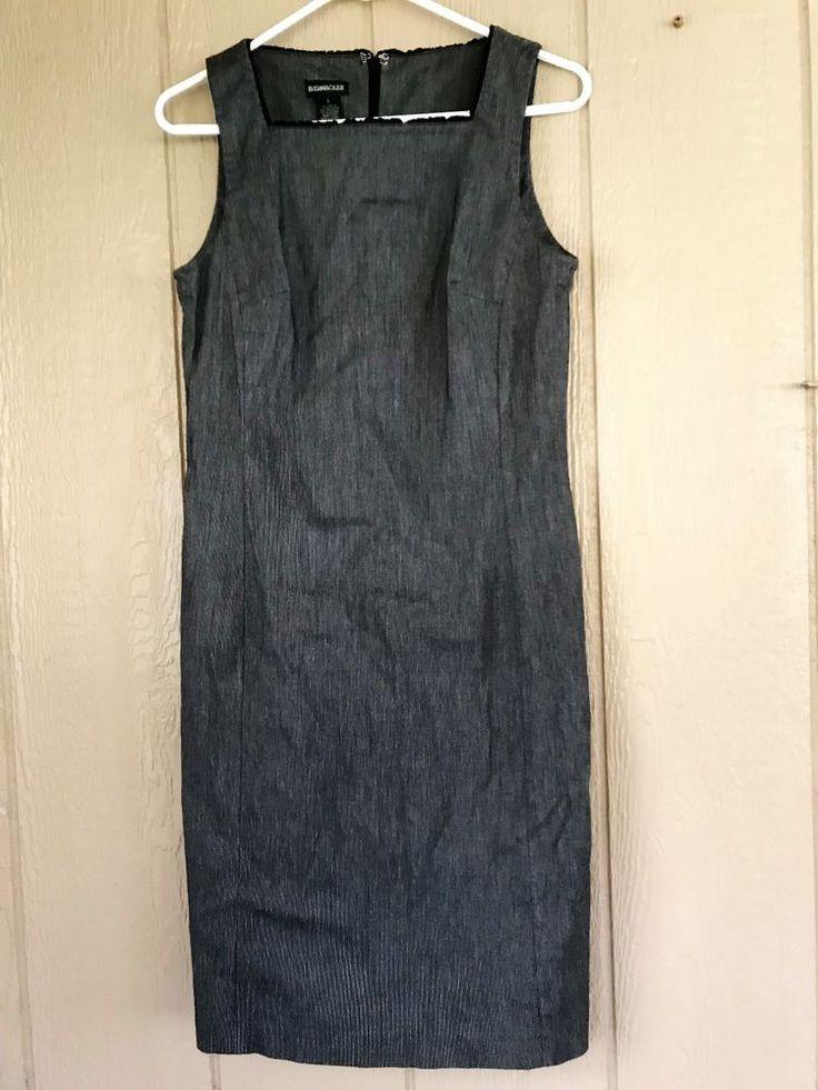 Bushwacker Women's Dress Sheath Sleeveless Black White Size 8 Rayon Blend #Bushwacker #SheathDress