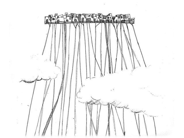 "Miyo Yoshida //Representation of one of Italo Calvino's ""invisible cities"". The town of Bauci."