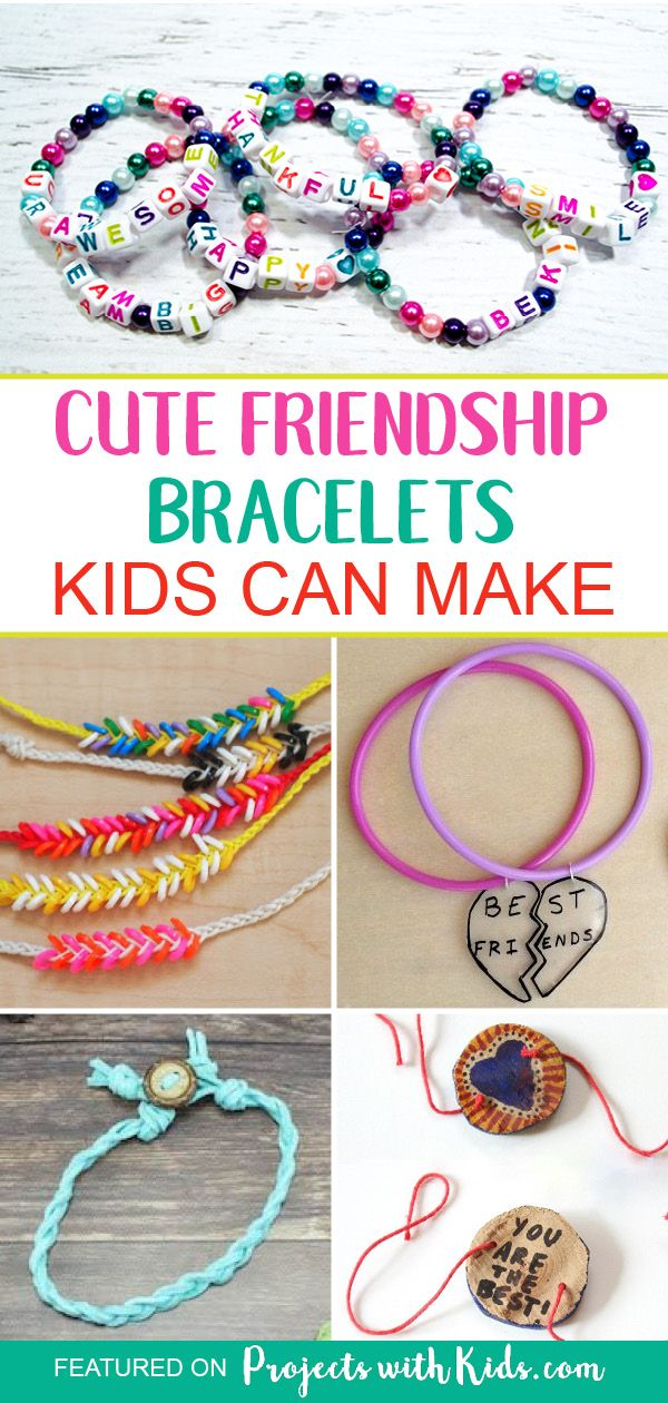 Super Cute Diy Friendship Bracelets Kids Can Make With Images