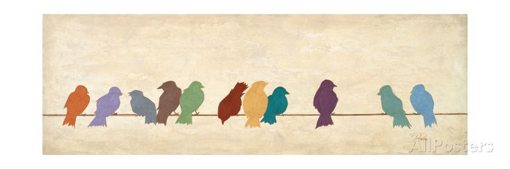 Birds Meeting Giclee Print at AllPosters.com
