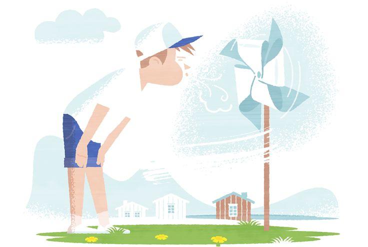 Illustration by Jukka Pylväs for Energiavirasto (Energy Authority in Finland).