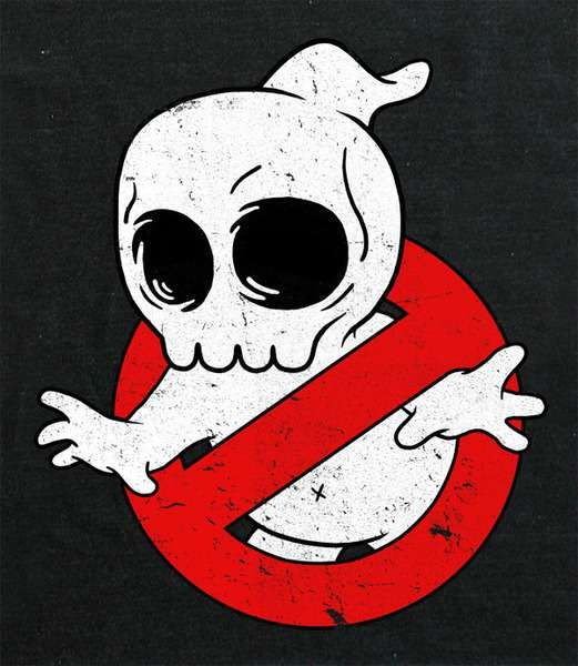 These Mike Mitchell Shirts Strip Pop Culture Favorites Down to Their Skulls #ghostbusters #popculture trendhunter.com