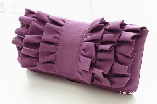Victoria Pleated Clutch PDF Sewing Pattern - by ithinksew