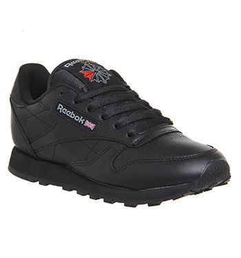 Reebok, Classic Leather Trainers (w), Black Leather