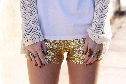 : Glitter Shorts, Diy Fashion, Hot Pants, Sequins Shorts, Sequinshort, Gold Sequins, Gold Shorts, Hotpants, Glittershort