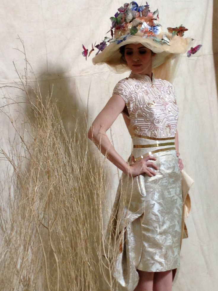 Oscar Daniel hat dress by Denny Wirawan