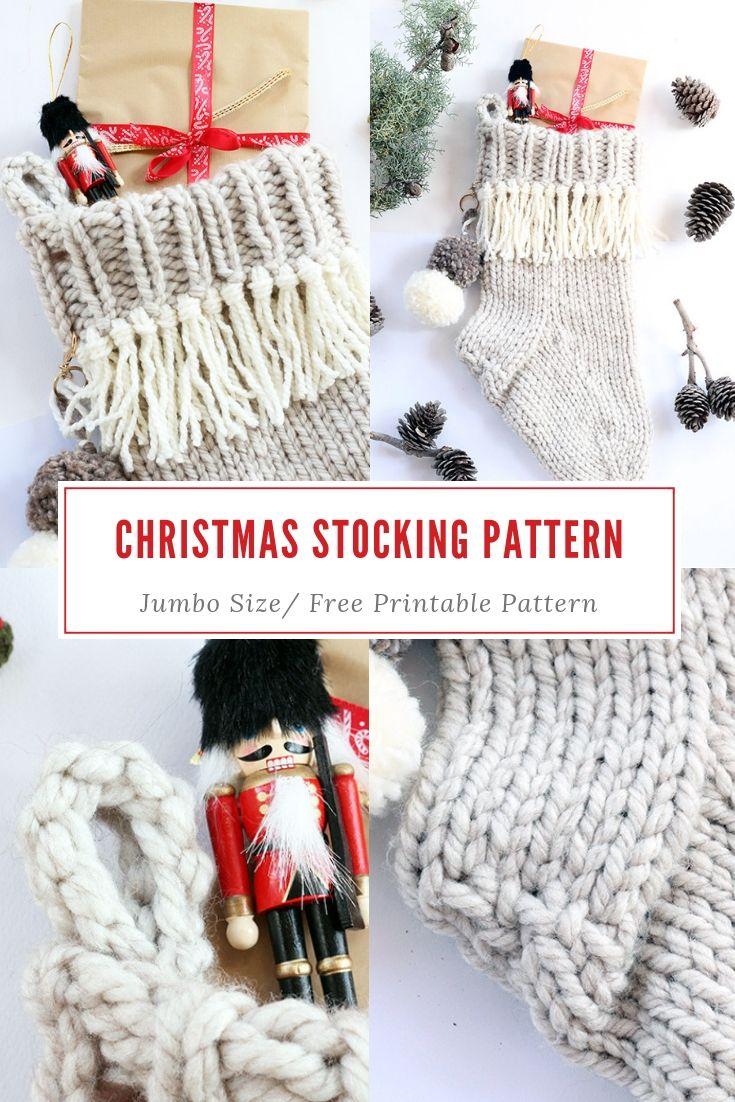 Christmas Stocking Knitting Pattern | Playing with Yarn | Knitting