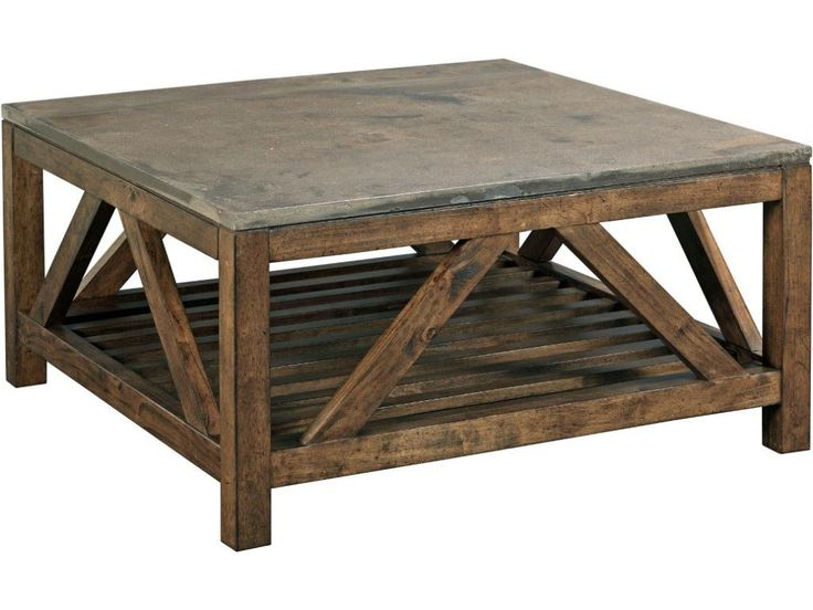 Mason Industrial Rustic Square Cocktail Table With