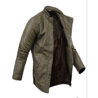 chaqueta de estilo militar y casual de color verde para hombres