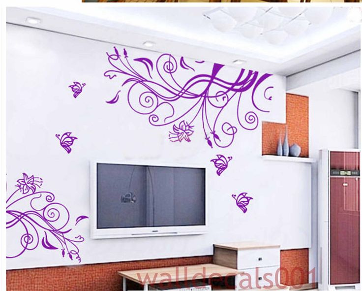 flower wall stickers vinyl wall decal wall sticker kids decal flower decal room decor - Wall Sticker Design Ideas