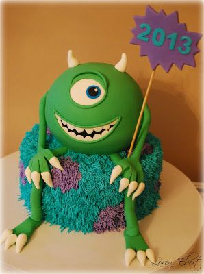 Monster Inc. pretty cool cake idea (two monsters in one!) @LoobaLee