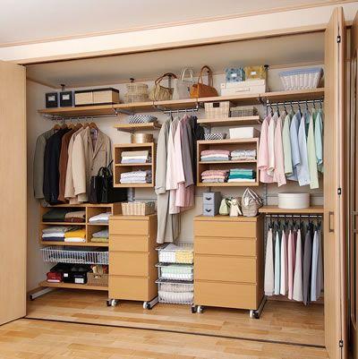 クローゼット収納 エスト|構成例 クローゼット壁面収納 枕棚/幅約3m|E-STYLERACK 構成例 クローゼット壁面収納 枕棚/幅約3m|MR-EST-SETO|