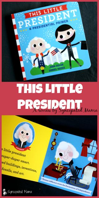 Frustrated by the lack of history books out there for young children?  Then you'll want to get your hands on this adorable board book, which introduces young readers to some of our nation's presidents!