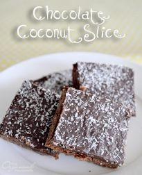 Chocolate Coconut Slice » The Organised Housewife