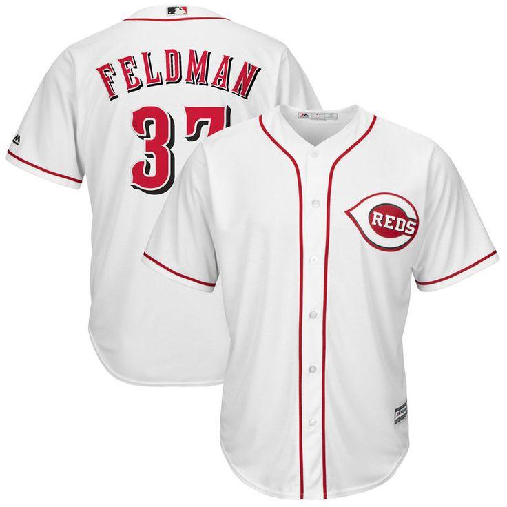 Scott Feldman Cincinnati Reds Majestic Home Cool Base Replica Player Jersey - White