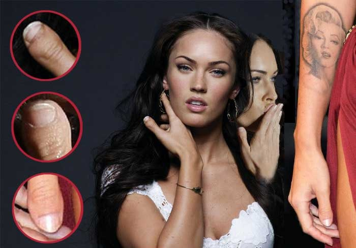 Megan Fox is sexy but her thumb is not.