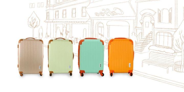[가방&캐리어]파스텔톤 칼라로 디자인이 예쁘고 가벼운 수화물용 캐리어