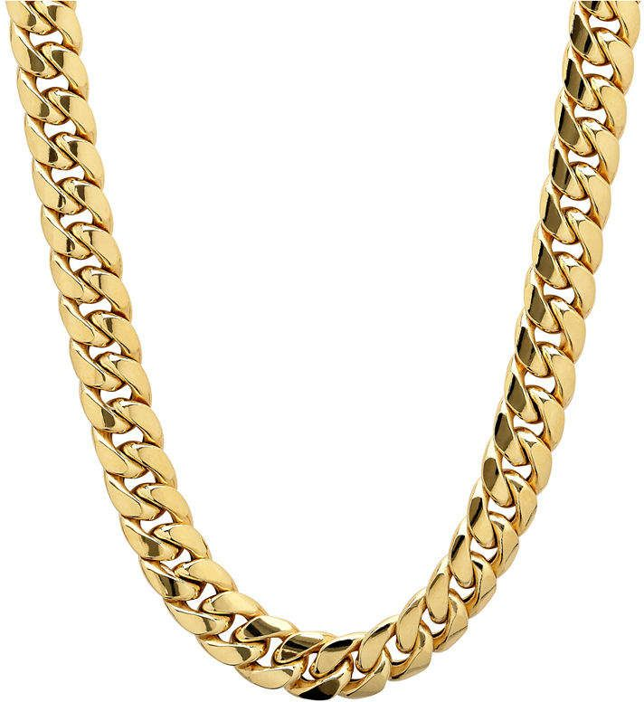 Fine Jewelry Made In Italy 10k Gold Hollow 22 Inch Chain Necklace Gold Chains For Men Chains For Men Gold Chains