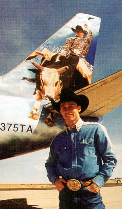 Ty Murray ... this sorta looks like what Frontier Airlines was doin' but don't think this is Frontier or if Ty has a plane or ??