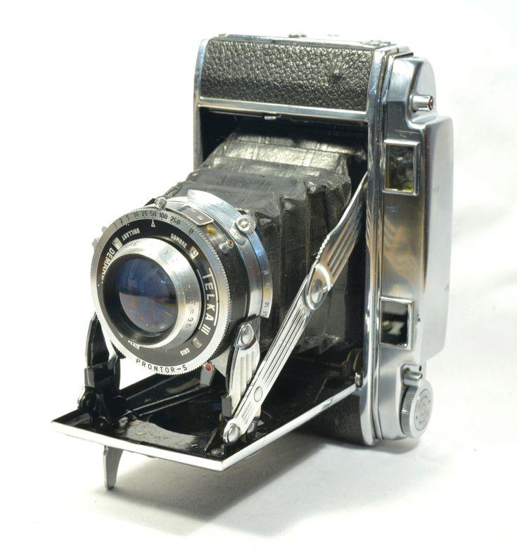 TELKA III - Demaria Lapierre  France c. 1948  Folding télémétrique  Format 6x9 sur film 120  Objectif SAGITTAR 95mm/f:3.5  Parfait état de fonctionnement  Appareil photo argentique télémètrique