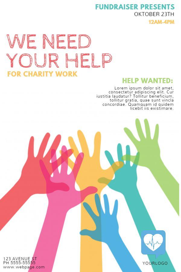 Fundraising Event Flyer Social Media Template Fundraising