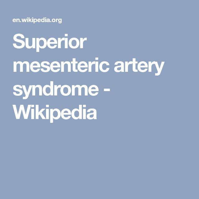 Superior mesenteric artery syndrome - Wikipedia